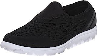Propét Women's TravelActiv Slip-On Sneaker, Black, 10 Wide