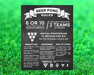 Beer Pong Sign Poster Beer Pong Rules Beer Pong Chalkboard Beer Pong Decals Yard Game Sign Outdoor GameWedding Lawn GameBackyard Game