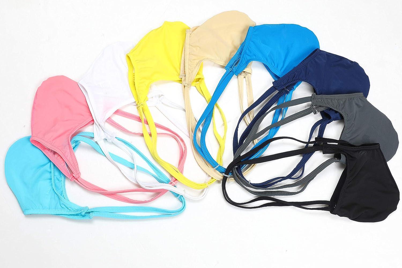 Newsywell Mens Ice Silk G-Sting Thongs T-Back Low Rise Bikini Briefs Underwear