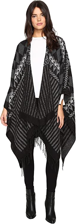 Pointed Pattern Duster Length Ruana