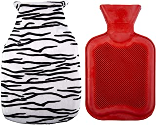 CTG, Bodico Collection, Hot Water Bottle with Eye Mask Set, Zebra