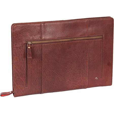 Professional Brown Buffalo Leather Portfolio Business Case A4 Document Holder