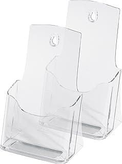 Sigel LH313 Lot de 2 Présentoirs Brochures de Table taille 105x210mm Transparent