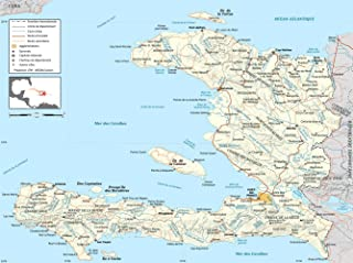 Gifts Delight LAMINATED 24x18 Poster: Haiti road map-fr