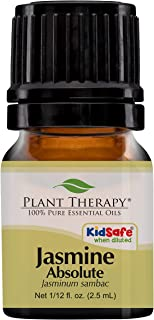 Plant Therapy Jasmine Absolute Essential Oil 100% Pure, Undiluted, Natural Aromatherapy, Therapeutic Grade 2.5 mL (1/12 oz)