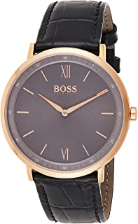 Hugo Boss Mens Quartz Watch, Analog Display And Rubber Strap 1513649
