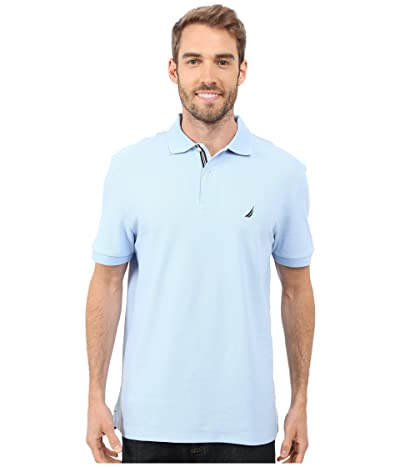 Nautica S/S Solid Polo With Tape (Noon Blue) Men