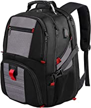 کوله پشتی لپ تاپ 17 اینچ ، کوله پشتی بزرگ چمدان با درگاه شارژ USB برای آقایان ، کوله پشتی لپ تاپ مسافرتی با کسب و کار TSA ، کوله پشتی رایانه ضد سرقت