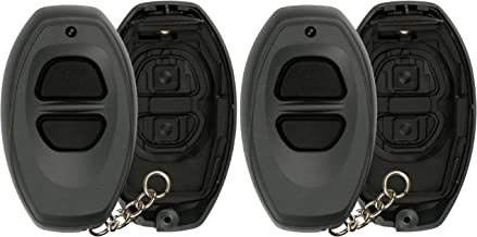 2 KeylessOption Just the Case Key Fob Keyless Entry Remote Shell Button Pads