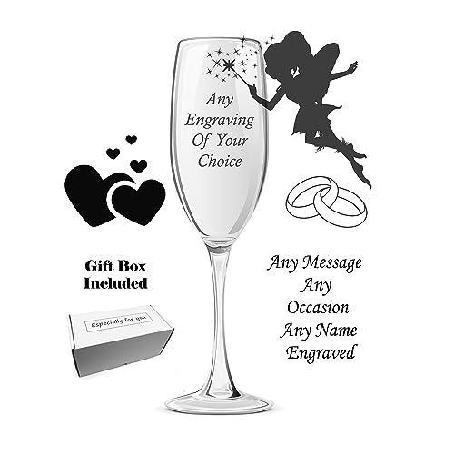 16142c9cab6 ukgiftstoreonline Personalised Engraved Champagne Flute Birthday Gift  Anniversary Wedding