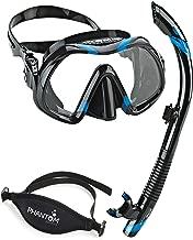 Atomic Venom Dive Mask and SV2 Snorkel Combo with Neo Strap (Black/Blue)