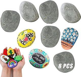 8 Stks Platte Stenen Groot Om Te Schilderen Grote Stenen Voor Schilderen Kiezelstenen Om Te Tekenen Decoratieve Stenen Nat...