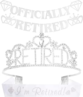 Officially Retired Party Supplies, Retired Tiara/Crown, I'm Retired Sash, Officially Retired Banner, Best Retirement Gift ...