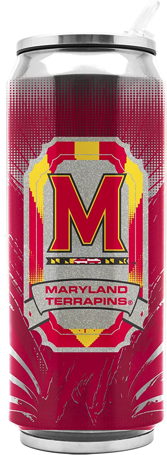 NCAA Maryland Terrapins Inventory cleanup selling sale Max 64% OFF 16oz Double Stainless Wall Thermoc Steel