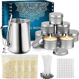 Tobeape Kerzenherstellung Kit, Kerzen Selber Machen Set, Anfänger DIY Sojawachs Kerzen Kit, Kerzen Handwerk Werkzeuge, Machen Duftkerze DIY Kit Für Erwachsene Und Kinder