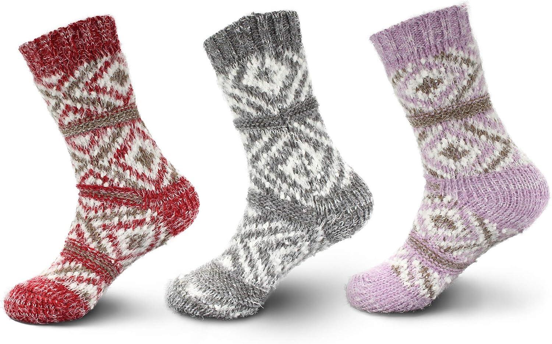 Women's Thick Vintage Pattern Cabin Crew Socks