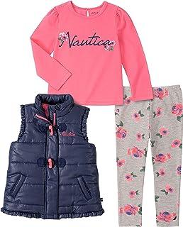 Nautica Baby Girls 3 Pieces Vest Pants Set