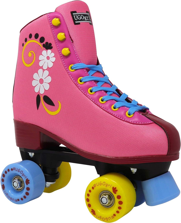 Lenexa uGOgrl Roller Skates for Girls Rollerskates Made for Kids Indoor Kids Quad Roller Skate Outdoor Great Youth Skate for Beginners Derby Childrens Skate