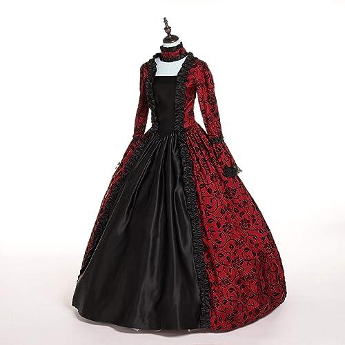 1eab184e6f CountryWomen Renaissance Gothic Dark Queen Dress Ball Gown Steampunk  Vampire Halloween Costume