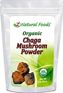 Organic Chaga Mushroom Powder - 1 lb - Support Your Immune System & Antioxidant Benefits - Steep Like Tea or Add To Smoothies & Recipes - Wildcrafted In USA & Canada - Raw, Non-GMO
