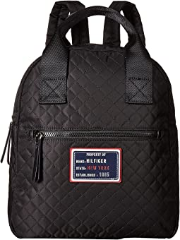 Nylon Patch Quilt Large Backpack