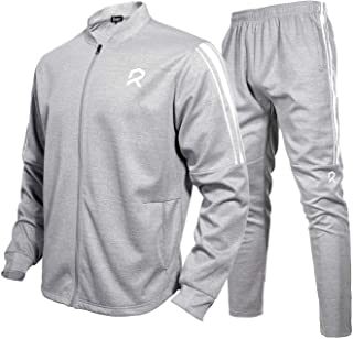 Rambler Men Tracksuit 2 Piece Jacket & Pants Jogging Athletic Suit Casual Full Zip Sweatsuit