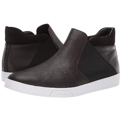 Calvin Klein Basilio (Dark Brown Small Tumbled Leather) Men