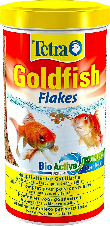 Tetra Goldfish Flakes Mangime in Fiocchi, Mangime per Pesci per Tutti i Pesci Rossi e Altri Pesci d'Acqua Fredda - 1 L