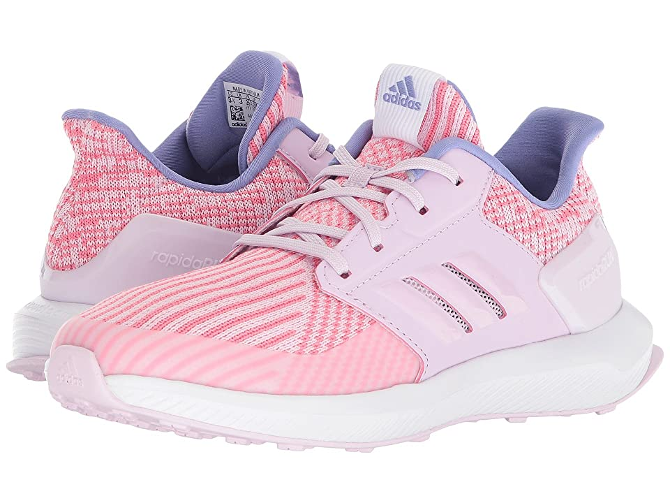 adidas Kids RapidaRun Knit (Big Kid) (Aero Pink/White) Girls Shoes