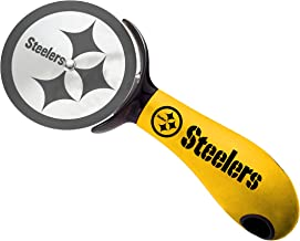 NFL Pizza Cutter - Stainless Steel Pizza Slicer with Rubber Ergonomic Handle - Kitchen Pizza Cutter Wheel - Easy to Clean...