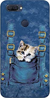 SharpEseller Cat in Blue Pocket Multi Coloured Silicone Back Cover for Oppo A12   Oppo A11K