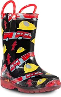 ZOOGS Children's Light Up Rain Boots for Little Kids &...