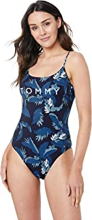 TOMMY HILFIGER Women's Tropical Print One-Piece Swimsuit