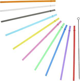 Rainbow Colored Replacement Acrylic Straw Set of 8, for 16oz, 20oz, 24oz Tumblers
