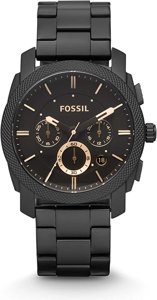Fossil orologio cronografo uomo con cinturino in acciaio inossidabile FS4682