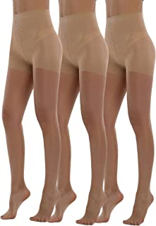 db6912bed BONAS Bodyshaper Pantyhose 3Pack Shock Up Silky Stockings Control Top