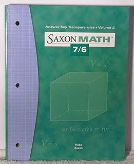Best saxon 7/6 answer key Reviews