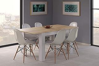 Amazon.it: tavolo allungabile bianco