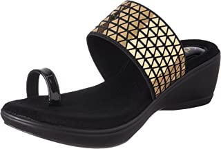 Catwalk Golden Leather Slip-on for Women's