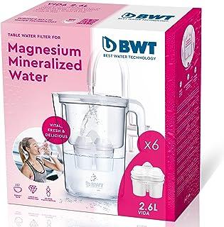 BWT vie manuel Filtre à eau en magnésium + Pack 6 filtres à eau, 2,6 L blanc