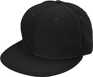 DALIX Flat Billed Structured Baseball Cap Adjustable Polyester Hat Size M L XL