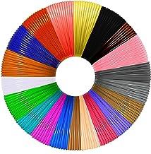 Beqreuu 3D Pen Filament 328 Feet، 20 رنگ , هر رنگ 20 فوت ، 3D Pen / 3D Printer PLA Filament 1.75 mm ، قطر با دقت بسیار بالا و پر کردن مجدد کودکان (20)