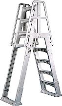 Vinyl Works SLA A-Frame 48-56 Inch Adjustable Above Ground Swimming Pool Ladder Entry..