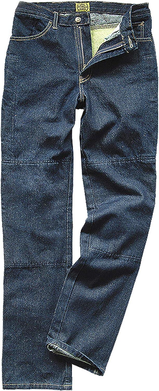 Draggin Jeans Classic Blue Motorrad Hose Mit Kevlar Innenteil Dyneema High Riese Relaxe Fit Farbe Blau Größe 40 102cm Bekleidung