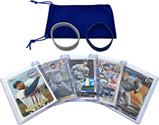 Los Angeles Dodgers Baseball Cards: Corey Seager, Cody Bellinger, Justin Turner, Clayton Kershaw, Matt Kemp ASSORTED LA Trading Card and Wristbands Bundle