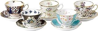 Royal Albert 100 Years 1900-1940 Teacup & Saucer Set, Multicolor , 5 Piece