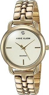 Anne Klein Women's AK/2794CHGB Bracelet Watch, Diamond-Accented Gold-Tone