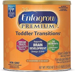 Enfagrow Premium Toddler Transitions Infant Formula - 20 oz. Can, Vitamins and Dual Prebiotics for IMMUNE SUPPORT, Omega 3...
