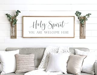 Best holy spirit you are welcome here wall art Reviews