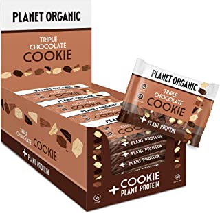 Planet Organic Protein Cookie Triple Chocolate - 50 gm, 12 Pieces (Pack of 1)